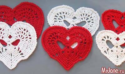 Modèles de coeurs au crochet