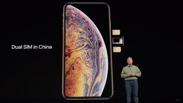 iPhone XS Max with physical double SIMs