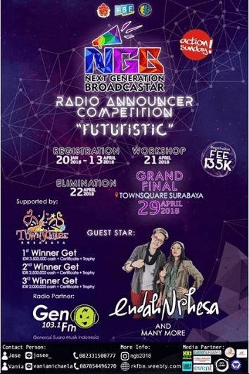 Lomba Radio Announcer Competition 2018 Ubaya