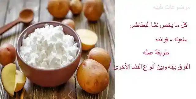 نشا البطاطس -تركيب نشا البطاطس -فوائد نشا البطاطس- طريقة عمل نشا البطاطس