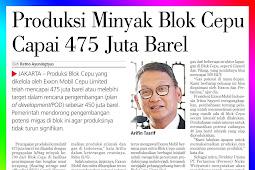 Cepu Block Oil Production Reaches 475 Million Barrels