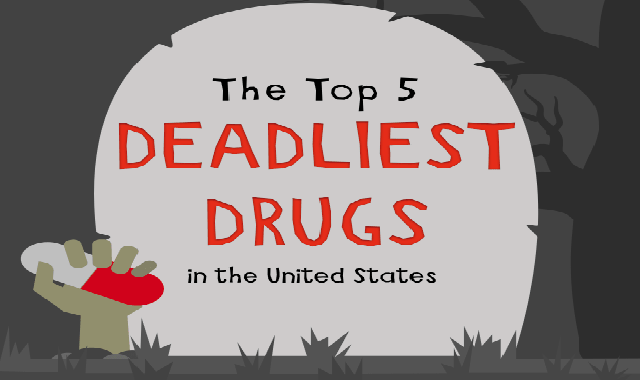 The Top 5 Deadliest Drugs #infographic