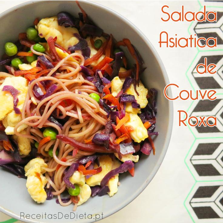 Salada Asiatica com Couve Roxa