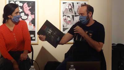 Nicolas Schmerkin, avec les coffrets Rosto au festival BD6né