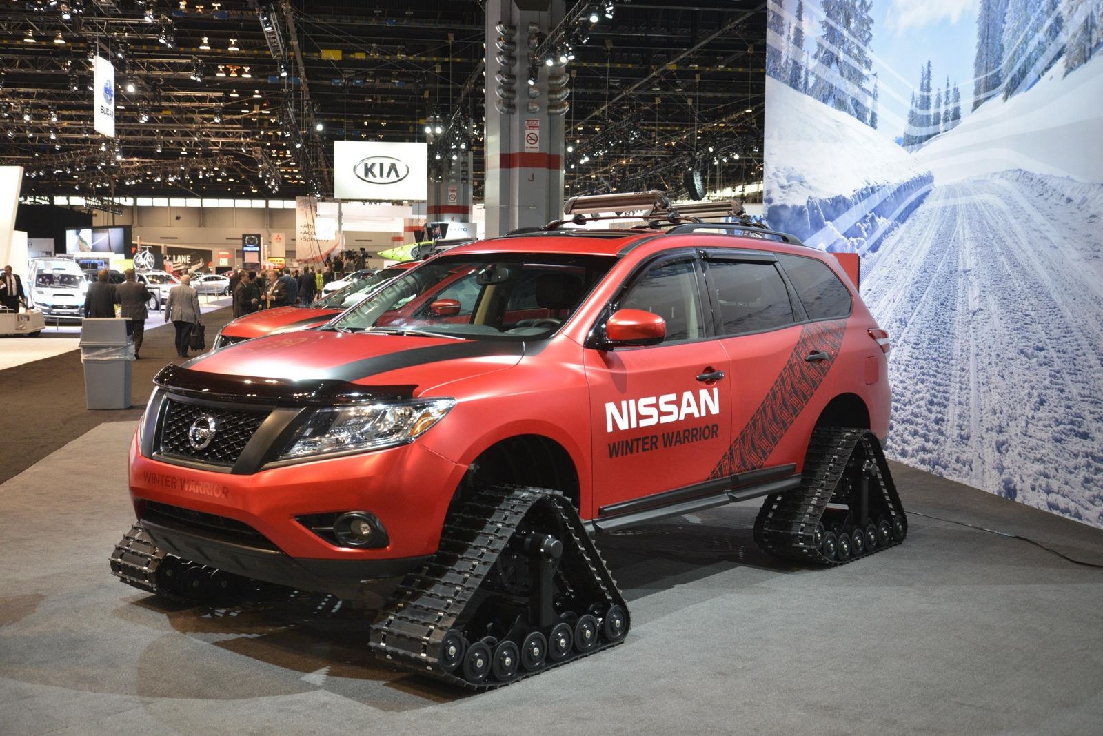 Nissan S Winter Warrior Concepts Are Suv Sized Snowmobiles