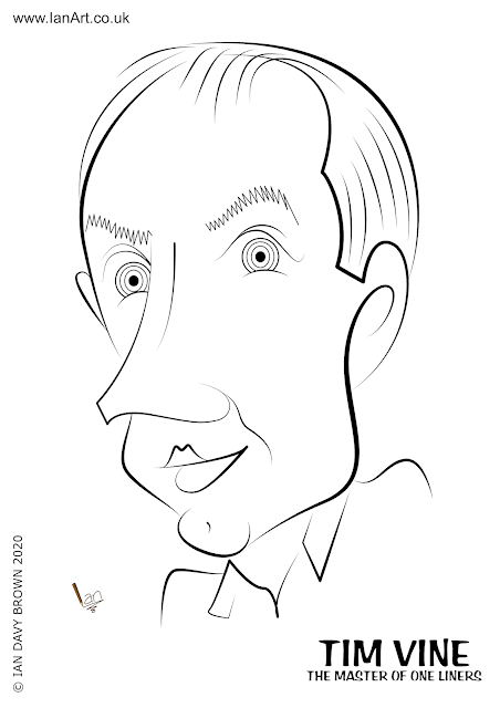 Tim Vine caricature by Ian Davy Brown