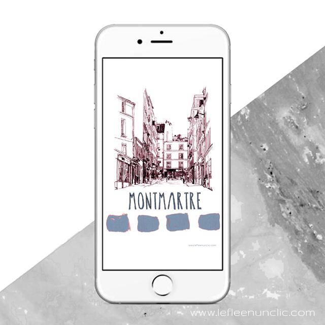 Montmartre, Paris, fond d'écran, FLE, le FLE en un 'clic'