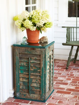 DIY Shutter Side Table From Good Housekeeping