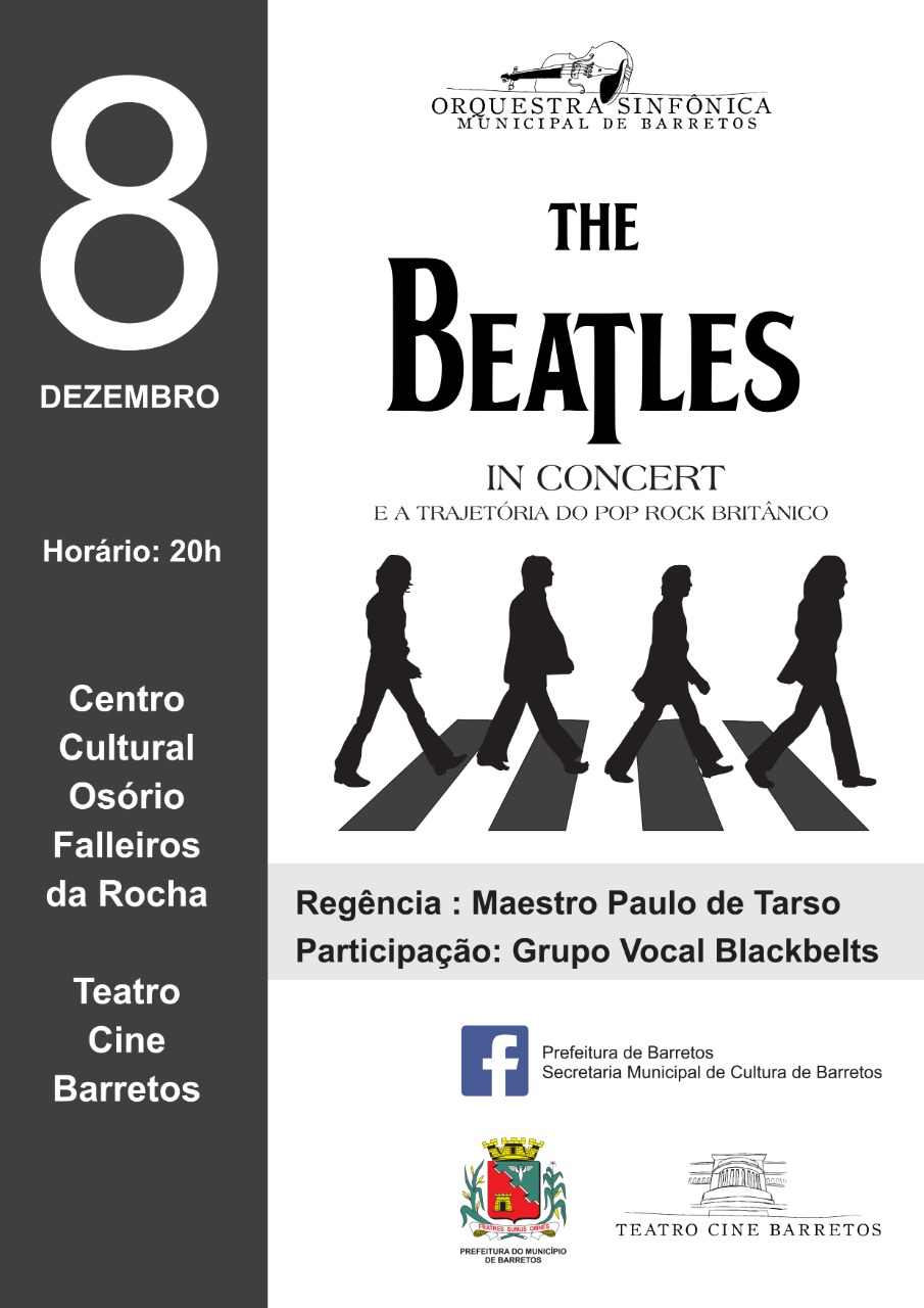 """Centro Cultural de Barretos reabre com """"The Beatles In Concert e a Trajetória do Pop Rock Britânico"""""""