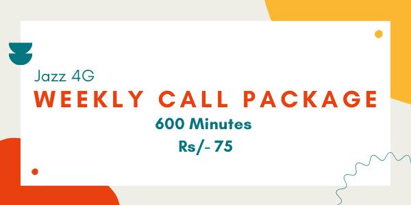 Jazz Weekly Call Package Code Rs-70