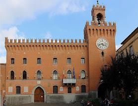 Budrio's 14th century town hall - the Palazzo Municipale on Piazza Filopanti