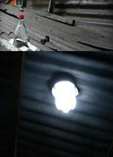 Lampu dari Botol Bekas Tanpa listrik