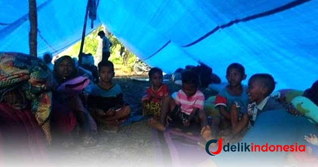 Miris..!! Hingga Kini Warga Kelapa Dua Kairatu Bermukim di Area Pengungsian Pasca Gempa Maluku
