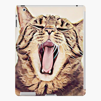 cat-themed iPad snap case