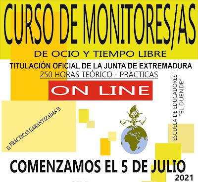 CURSO DE MONITORES/AS DE OCIO ONLINE
