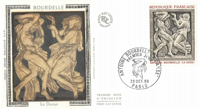 FDC France Art Antoine Bourdelle 1968 Paris