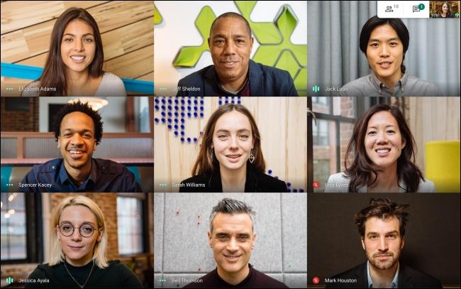 مؤتمر فيديو Google Meet من الموقع