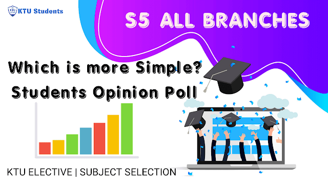 ktu elective s5 selection polling students opinion