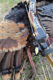 Bow Mountable Turkey Decoy with recurve