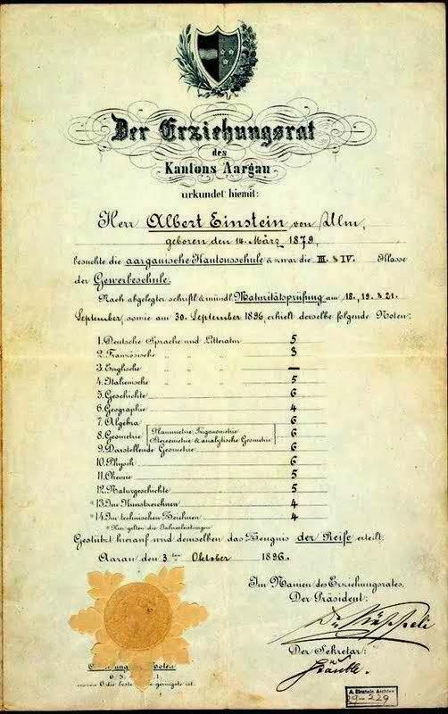 Με τι βαθμό αποφοίτησε ο Αϊνστάιν – Το απολυτήριο μιας διάνοιας...