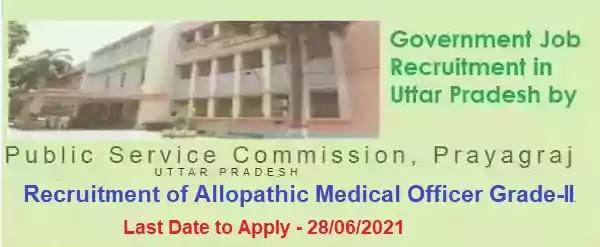 UPPSC 3620 Medical Officer Vacancy Recruitment 2021