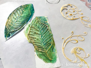 behind the scenes of mixed media artwork featuring Mother Nature and the Earth by Jenny James