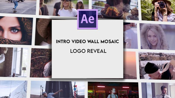 Intro Video Wall Mosaic Logo Reveal[Videohive][After Effects][28132121]