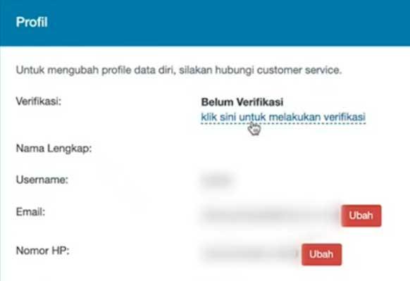 klik verifikasi