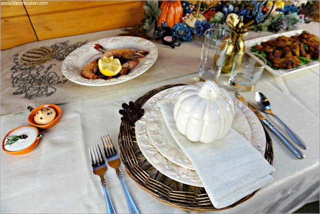 Entrantes en la Mesa de Nuestra Cena de Acción de Gracias