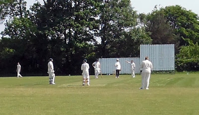 A Brigg Town cricket match  at the Recreation Ground