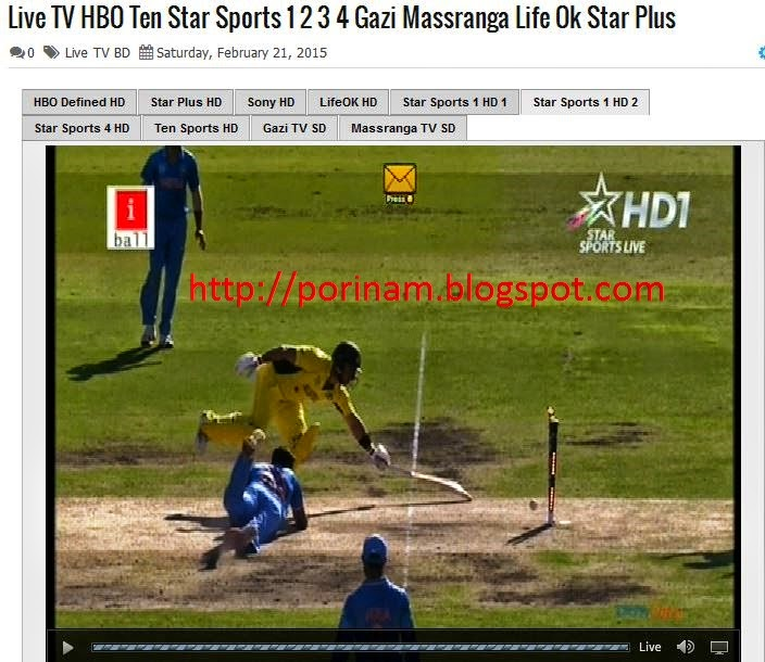 Live TV HBO Ten Star Sports 1 2 3 4 Gazi Massranga Life Ok Star Plus