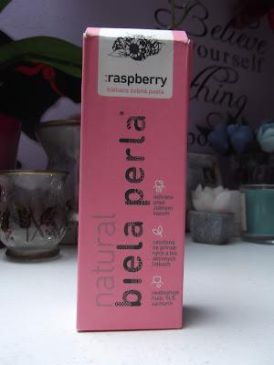 Biela Perla Zubná pasta bez fluóru raspberry