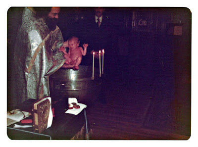 Russian Orthodox Baptism at Holy Trinity Cathedral in San Francisco in 1976