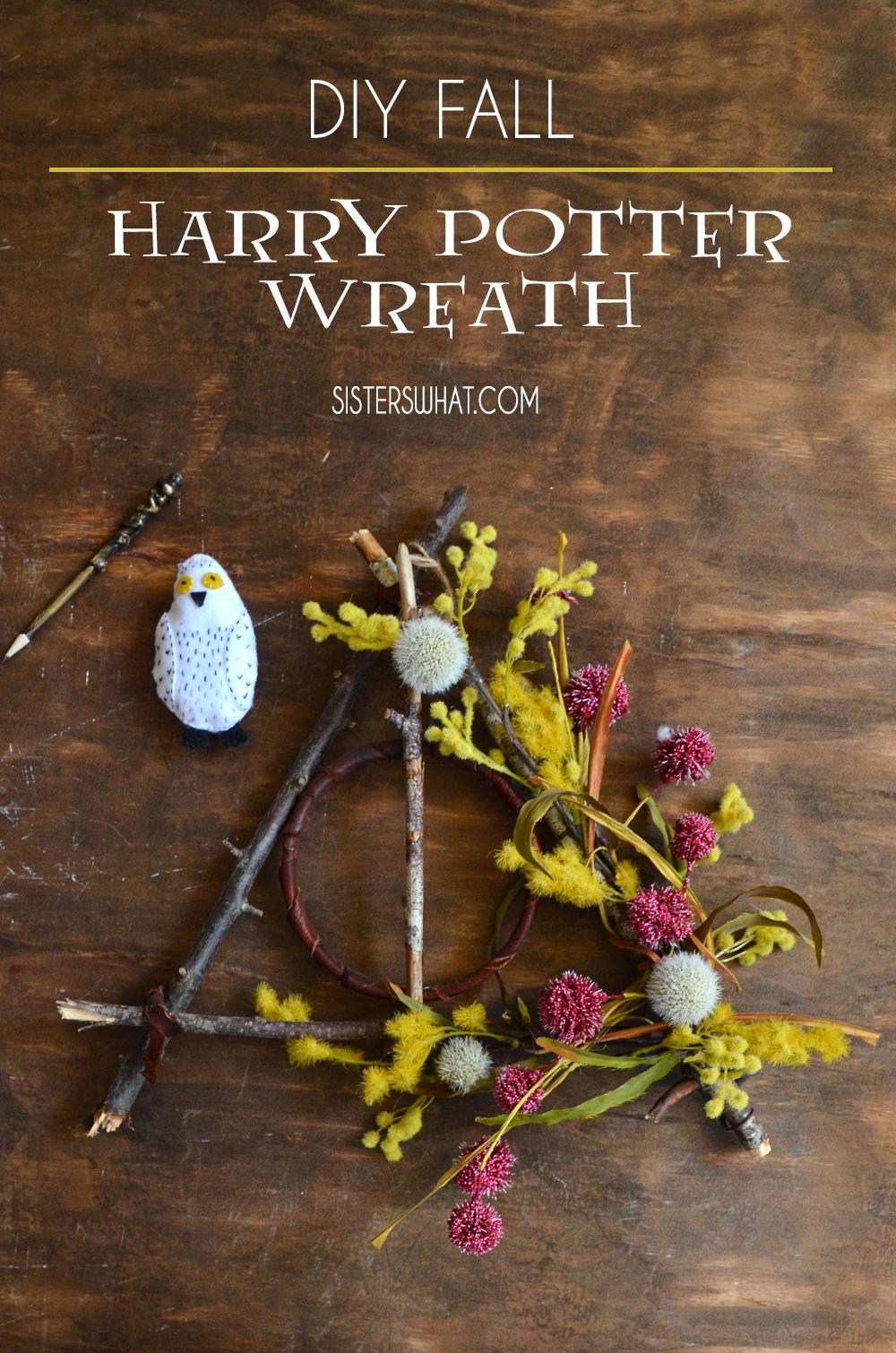 diy harry potter wreath fall wreath