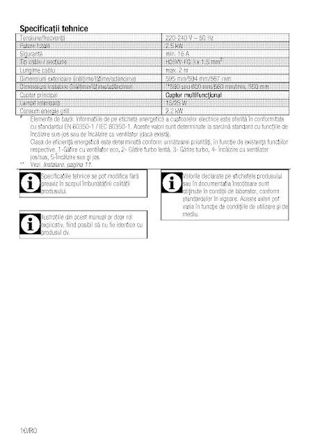 Review Manual de utilizare cuptor incorporabil Beko