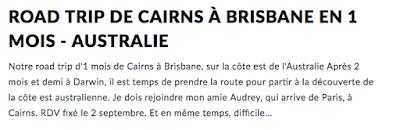 Road trip de Cairns à Brisbane en 1 mois, Australie