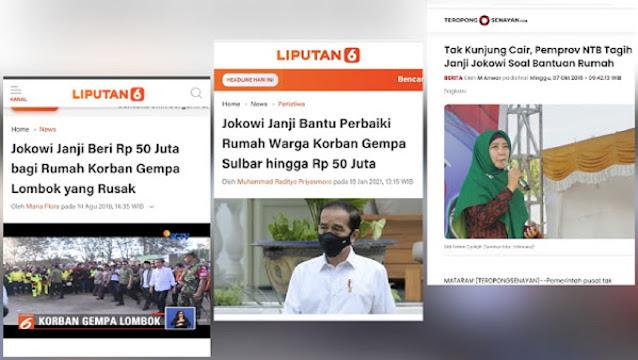 Jokowi Janji Beri Rp50 Juta pada Korban Gempa Sulbar, HNW: Janji Lombok Aja Belum Dipenuhi