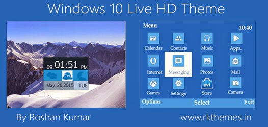 Windows 10 Live HD Theme For Nokia C3-00, X2-01, Asha 200, 201, 205