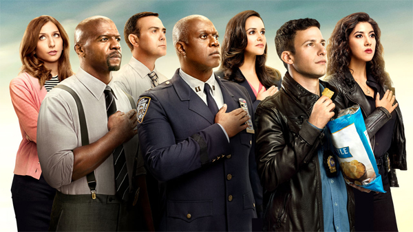 promotional image of the primary cast of Brooklyn Nine-Nine