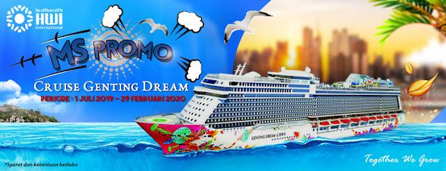 MS PROMO CRUISE GENTING DREAM Periode 1 Juli 2019 - 29 Februari 2020