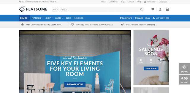 Flatsome Wordpress Ücretsiz E-Ticaret Teması