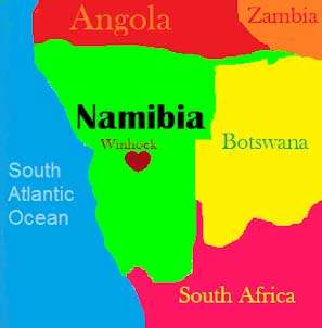 Namibia color map