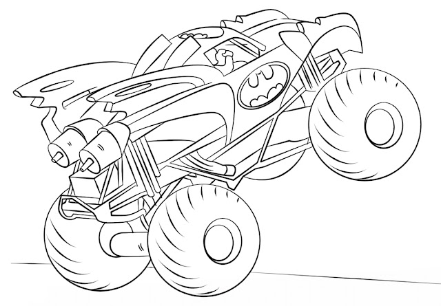 Mewarnai Gambar Monster Truck