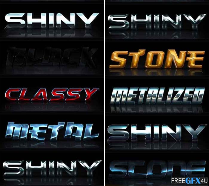 10 Glossy Photoshop Text Effects