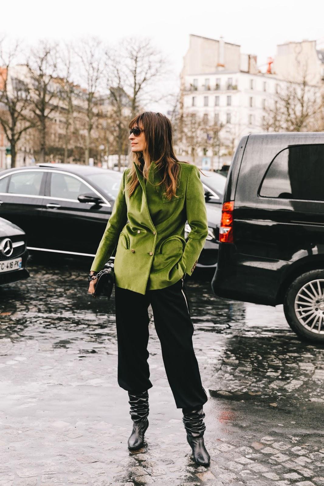 23 Velvet Blazers We're Coveting Now  — Caroline De Maigret Street Style