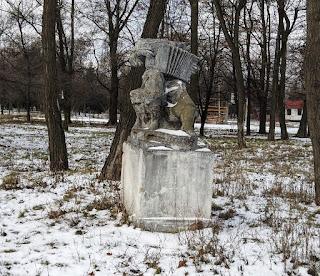 Часов Яр. Парковые скульптуры