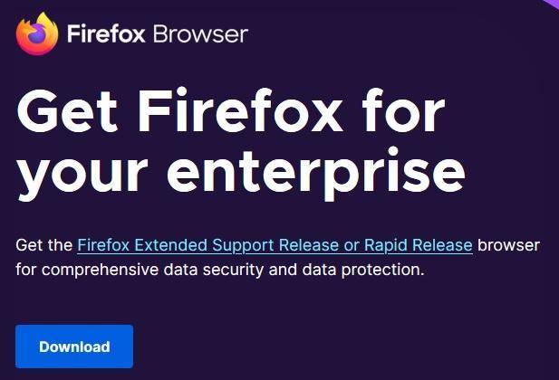 Firefox ESR Enterprise browser