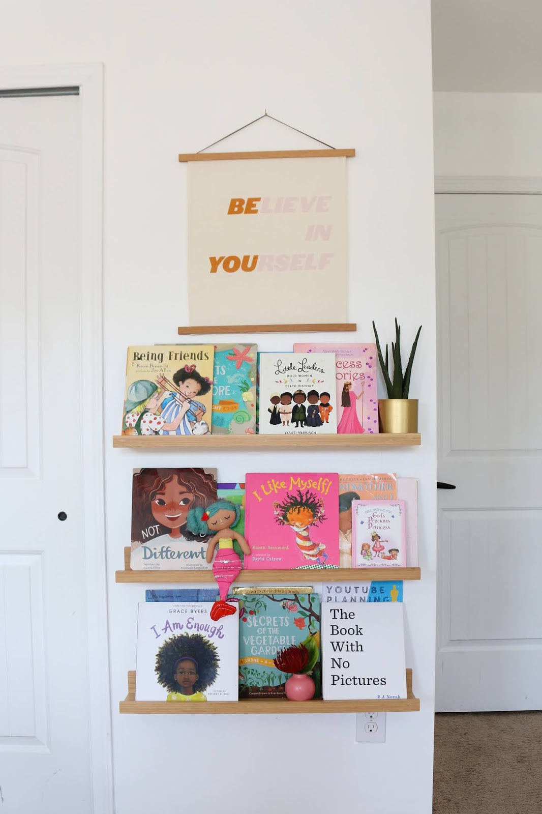 Book Ledges with POC books