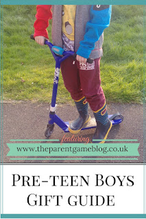 A guide with lots of ideas for the difficult pre-teen boy phase! Find your perfect gift here.