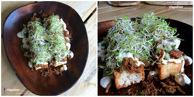 Adobo Flakes Bruschetta from Amacena Tagaytay